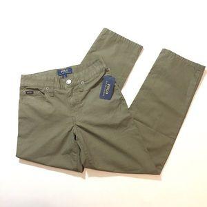 NWT Polo boys army green cotton pants size 8